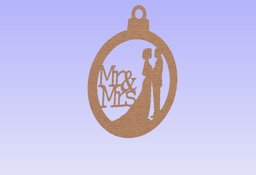 Mr & Mrs Hanging Bauble