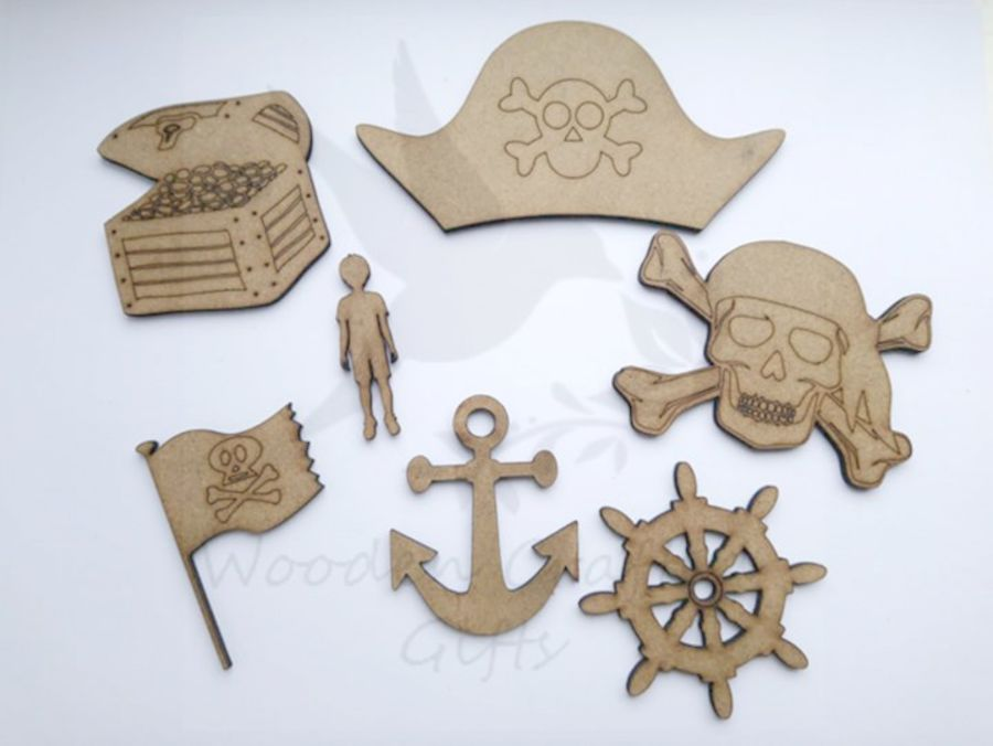 Etched Detailed Pirate Set