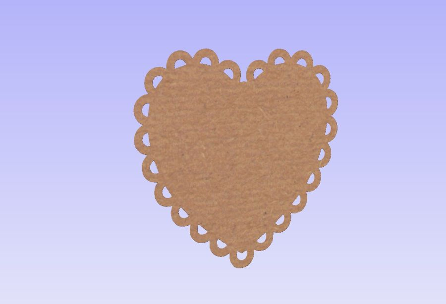 Scalloped Edged Heart Plaques