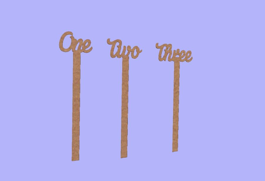 Wedding Table Numbers or Words On Sticks (Comes as wording unless requested number!)
