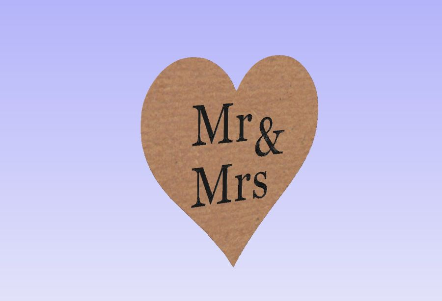 Mr & Mrs Scatter Hearts (Table Decorations)