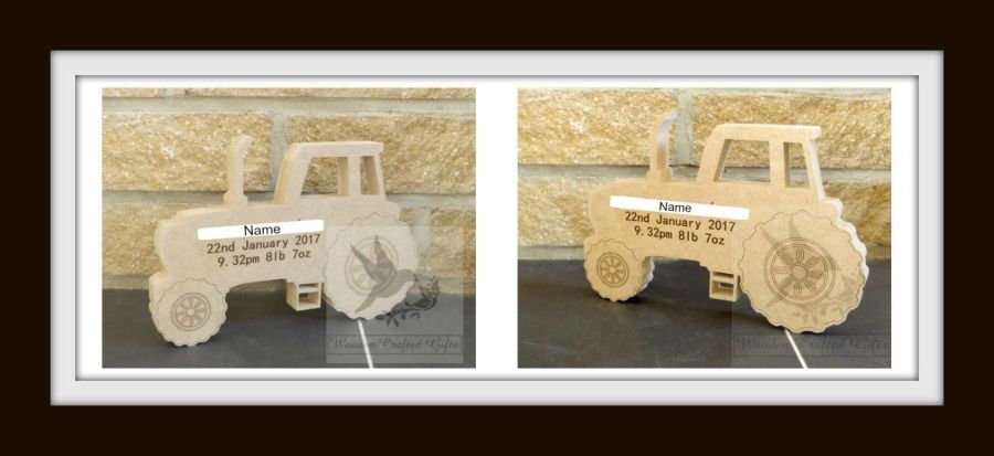 Freestanding Engraved Tractor