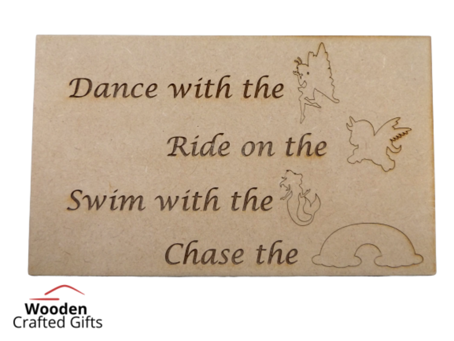 Freestanding Plaque - Dance with the fairies -