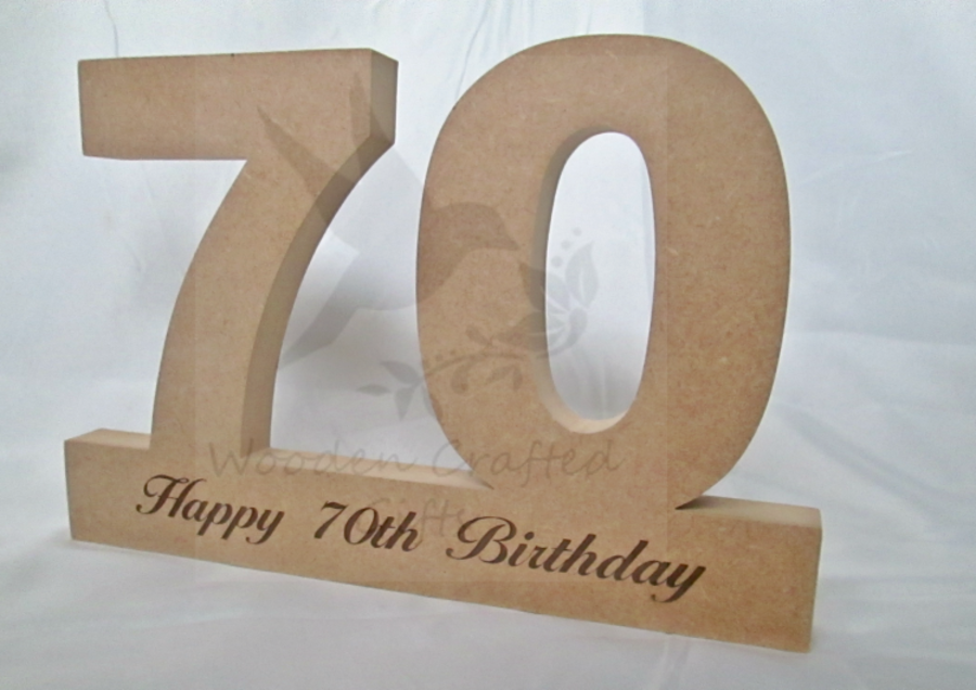 Freestanding Double Numbers Engraved