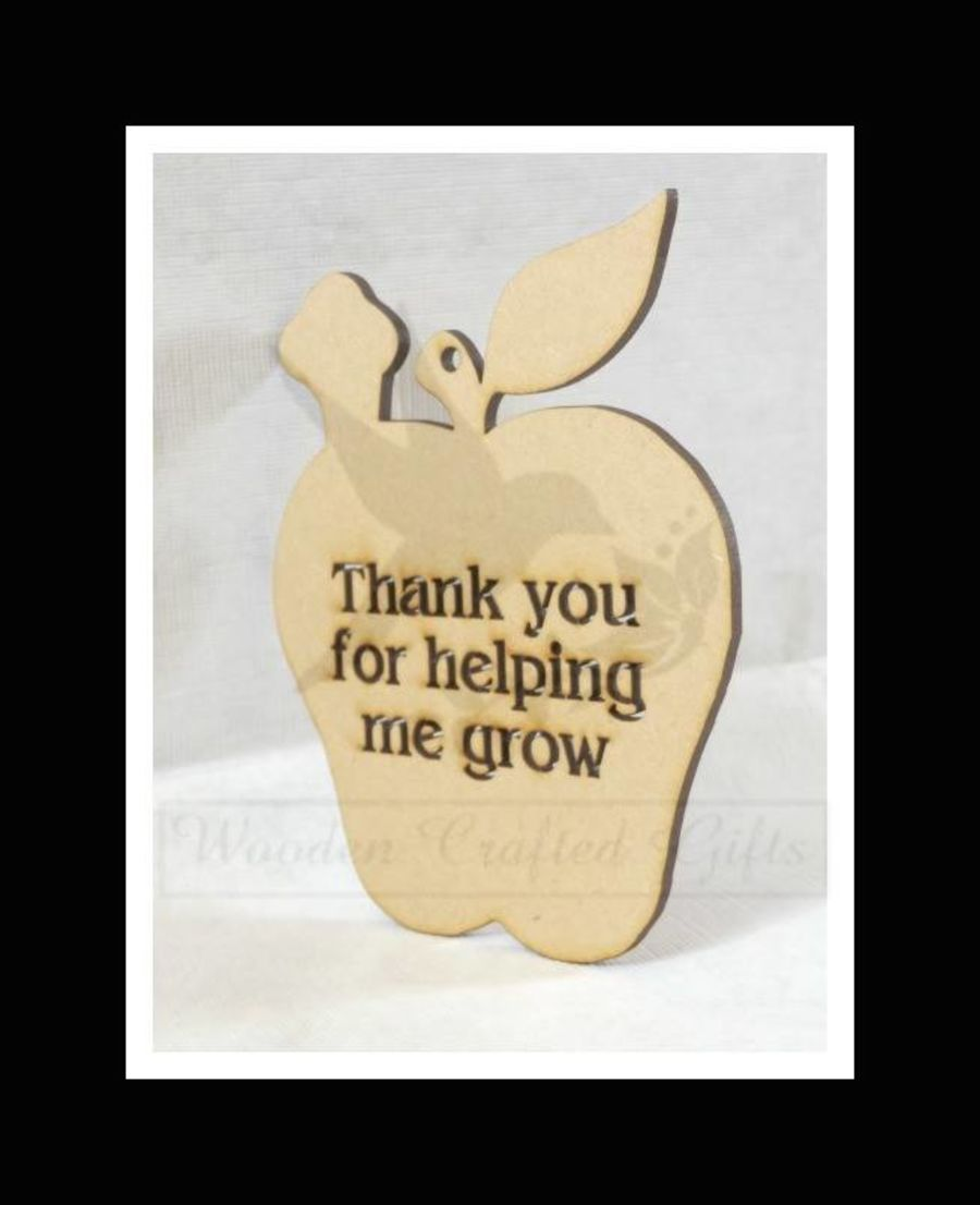 Hanging Apple -  Thank You For Helping Me Grow