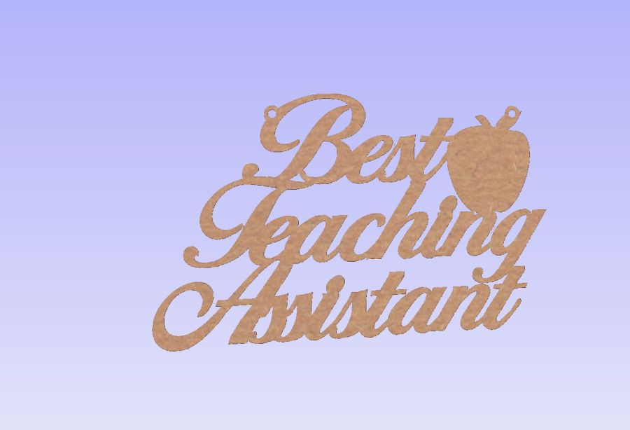 Best Teaching Assistant- Hanging Plaque