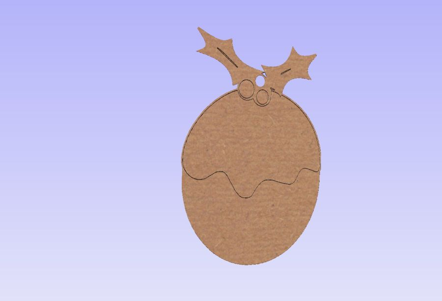 Hanging Christmas Pudding Shape