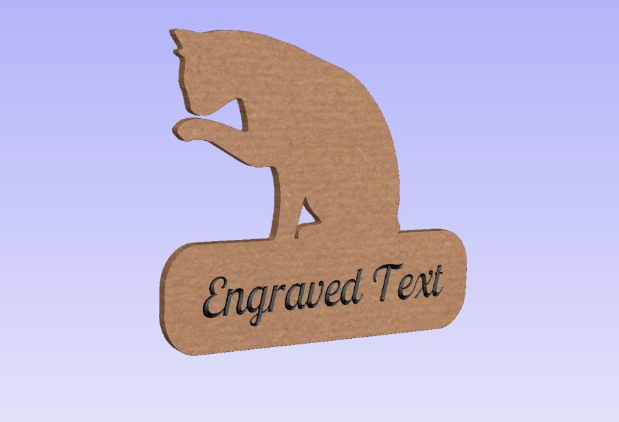 Freestanding Cat (With or Without Engraved Text)