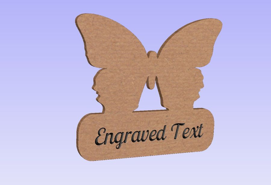 Freestanding Butterfly Plaque (With or Without Text)