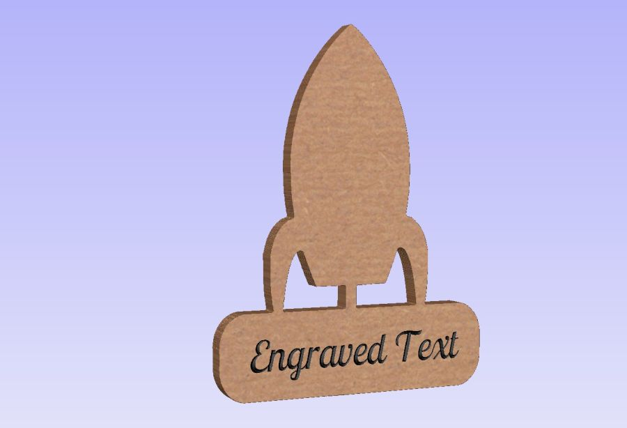 Freestanding Rocket Plaque (With or Without Text)