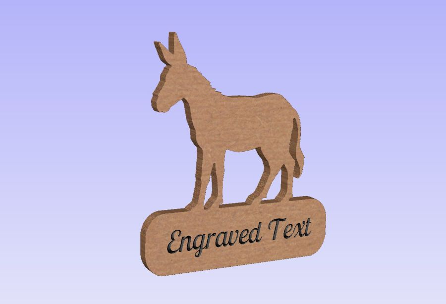 Freestanding Donkey Plaque (With or Without Text)