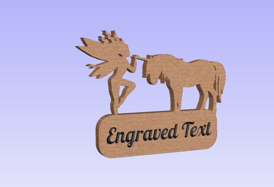 Freestanding Fairy & Unicorn Plaque (With or Without Text)