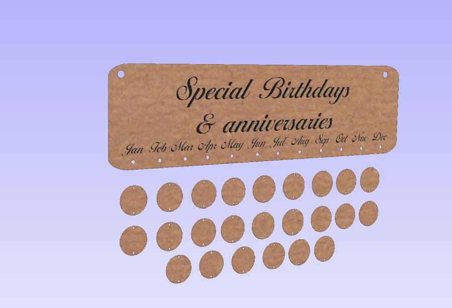 Special Birthdays & Anniversaries - Plaque - +24 Discs