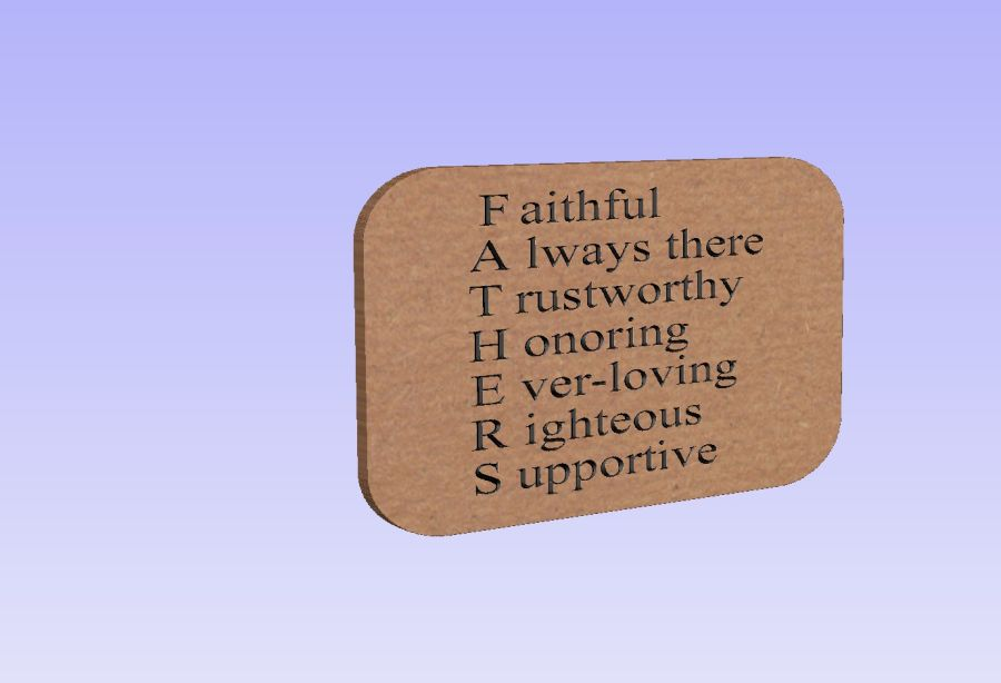 Freestanding Fathers Day Plaque