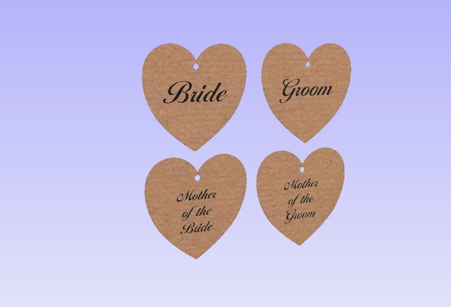 Personalised Engraved Wedding Favour Hanging Hearts