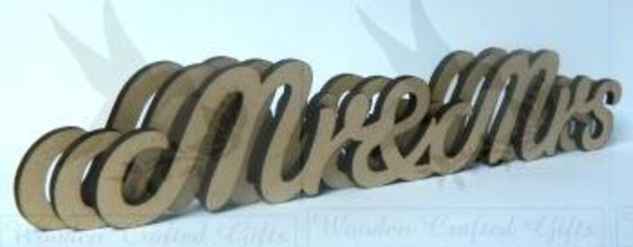 60cm Long Hanging Signs 4mm Thick  - Mr & Mrs - Mr & Mr - Mrs & Mrs - Bride & Groom -