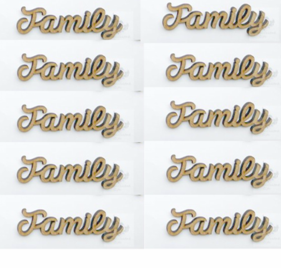 3cm Family - Words Pack of 10