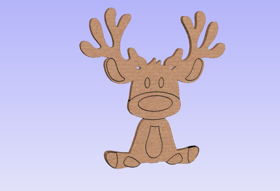 Freestanding Rudolph With Etching Details