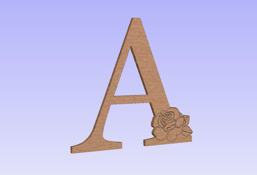 Freestanding Letter(s) With Rose Flower