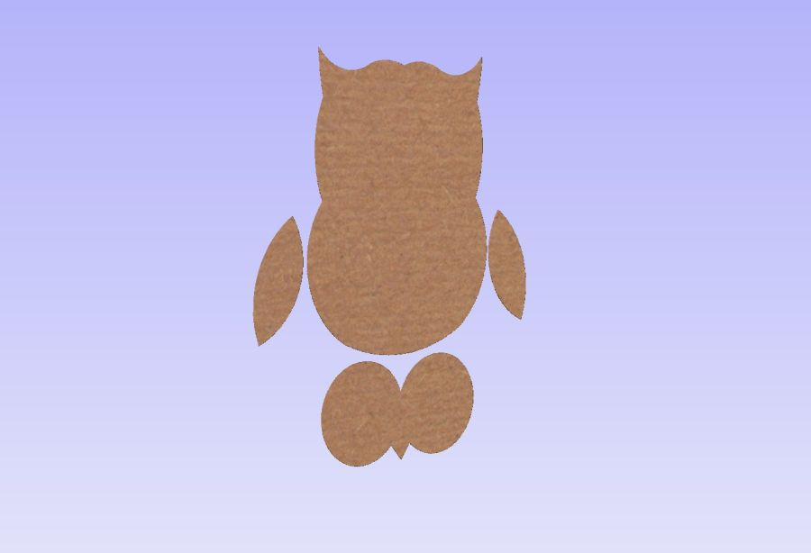 Freestanding Owl Shape + 3D Parts