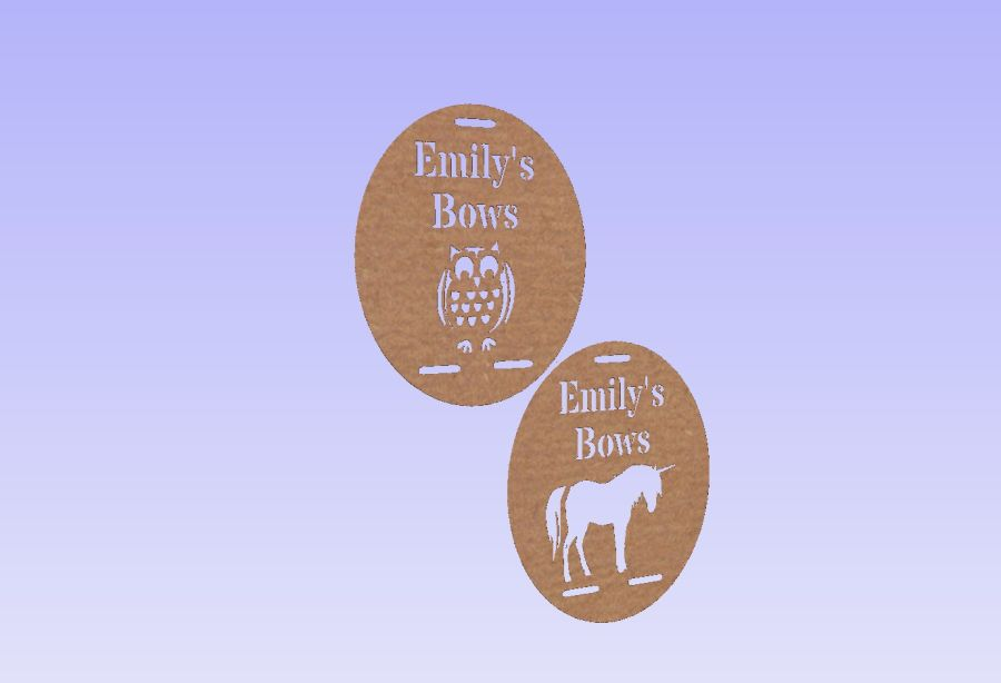 Personalised Bow Holder With Shape
