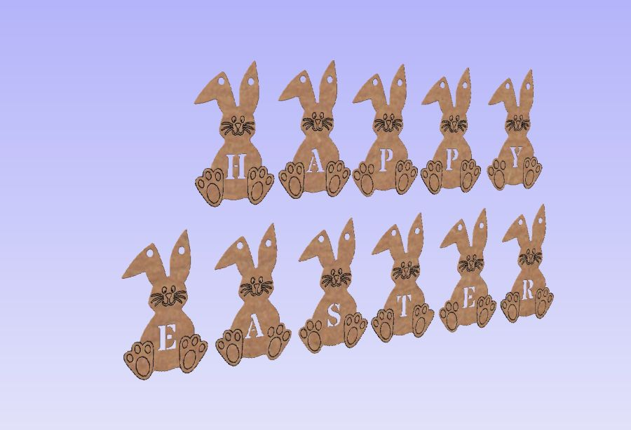 Happy Easter - Hanging Bunting