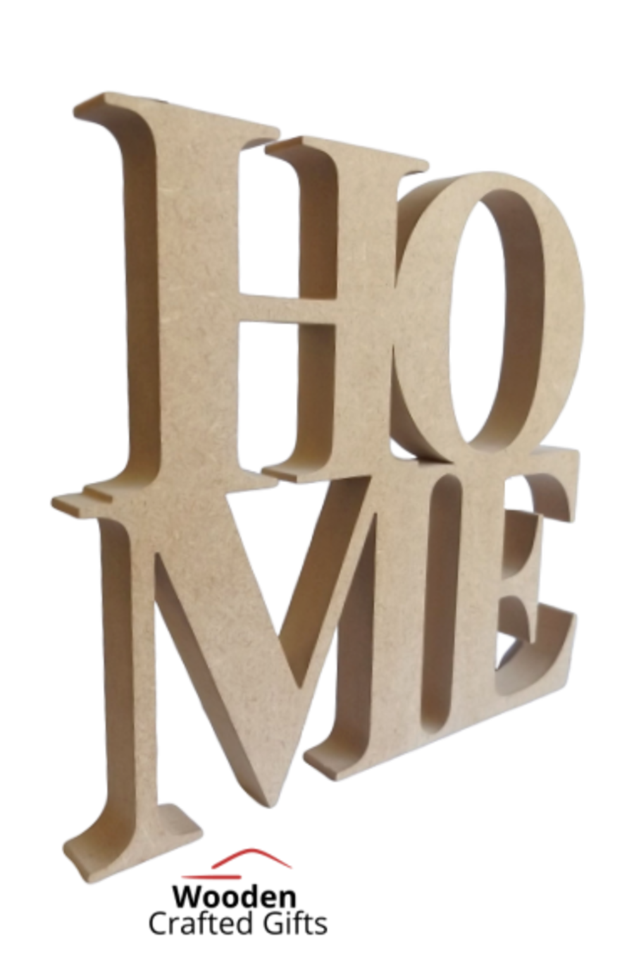 Freestanding HOME Engraved Details