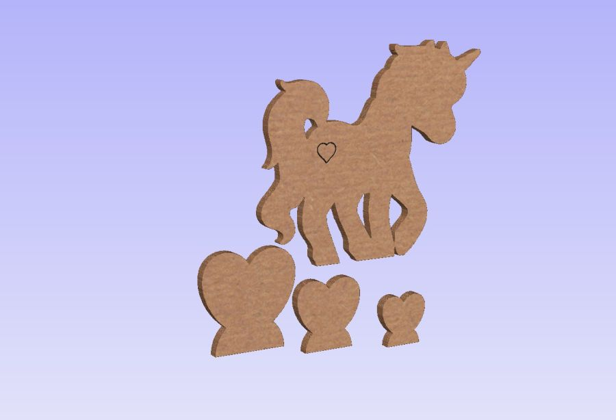 Freestanding Unicorn + Heart Shape Sets