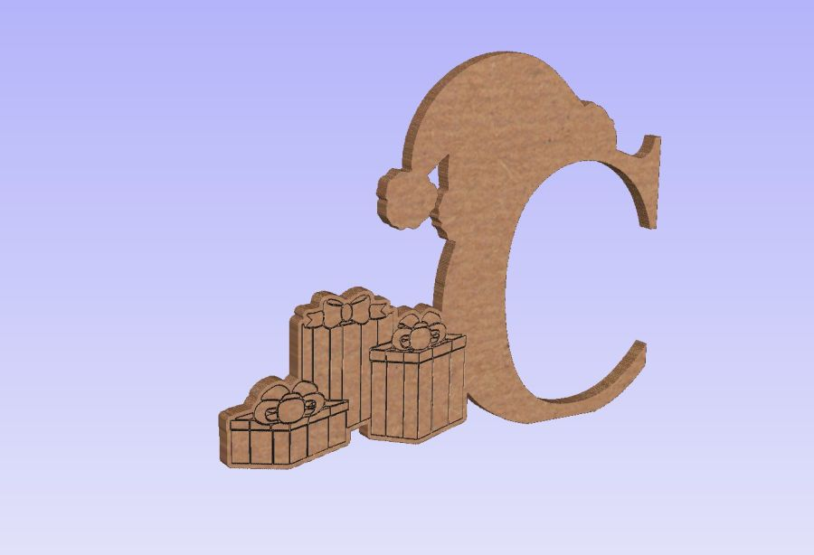 Freestanding C + Etched Detailed Presents