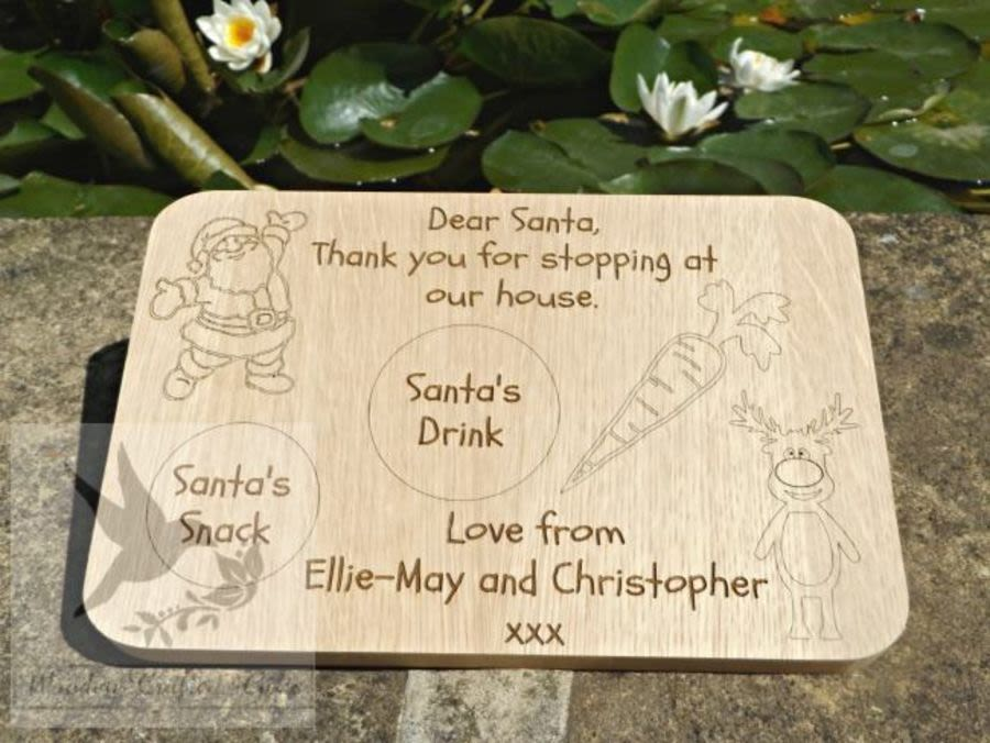Personalised Oak Veneer Christmas Board