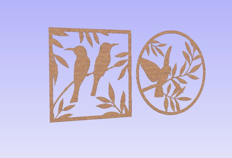 Birds In Trees Set of 2 - Fits ribba frames.