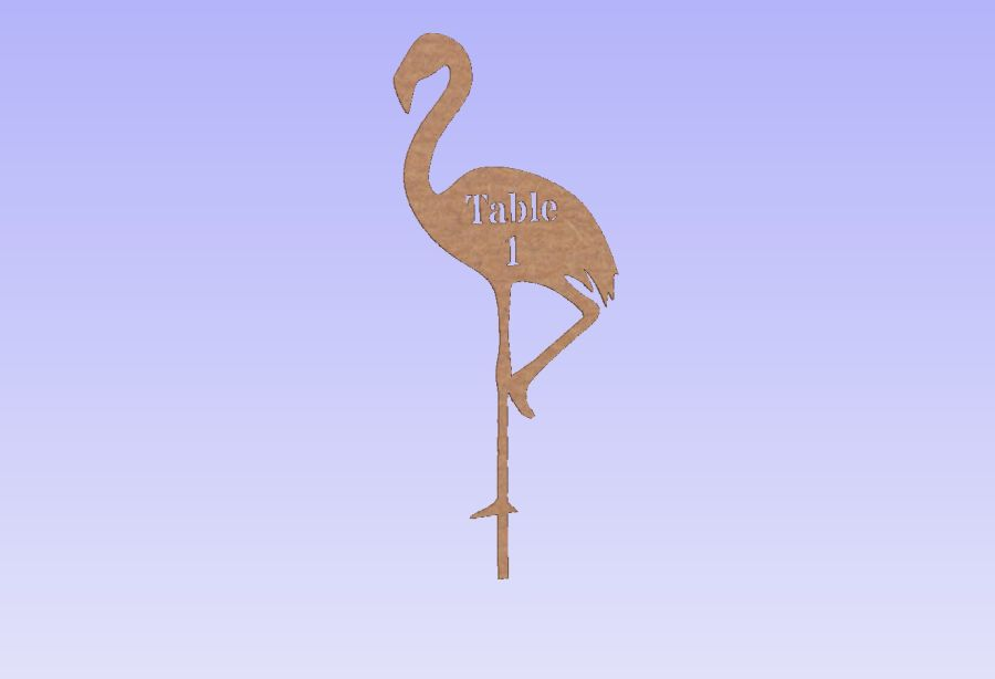 Flamingo Table Numbers/Words On Sticks