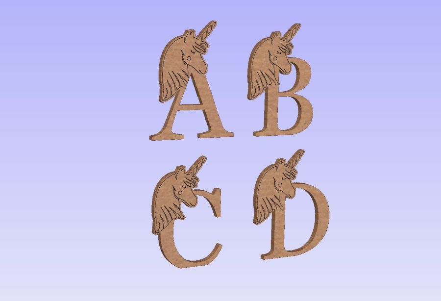 Freestanding Unicorn Letters