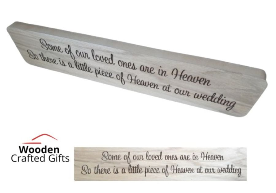 Freestanding Oak Veneer - Because some of our loved ones are in heaven - Plaque/Block