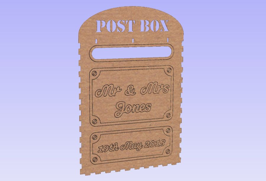 Personalised Post Box (Comes flat packed)