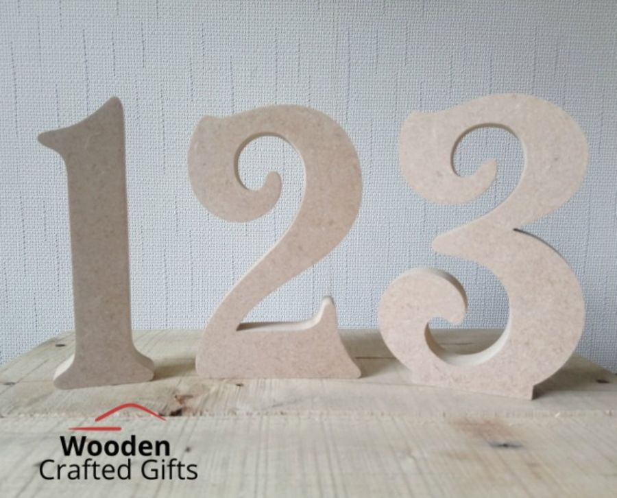 Freestanding Victorian Font Numbers