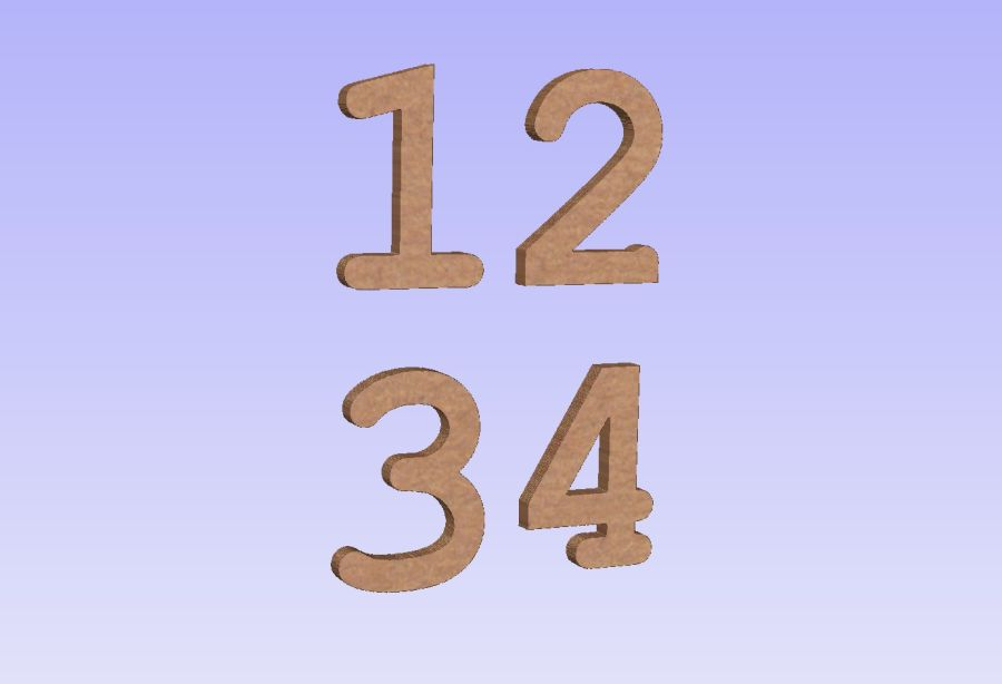 Freestanding Courier Font Numbers