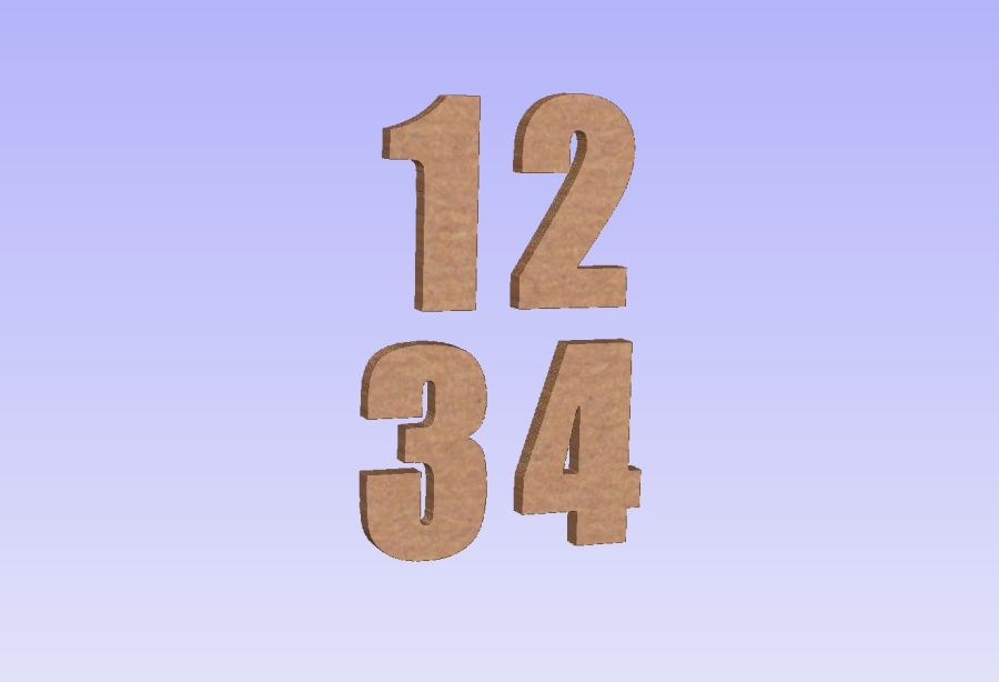 Freestanding Impact Font Numbers