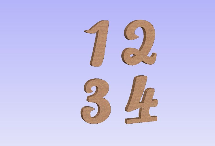 Freestanding Pacifico Font Numbers