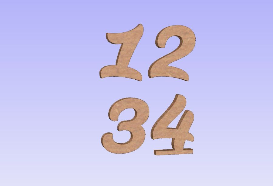 Freestanding Susa Font Numbers