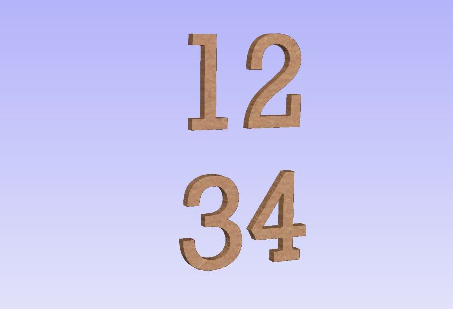 Freestanding Rockwell Font Numbers