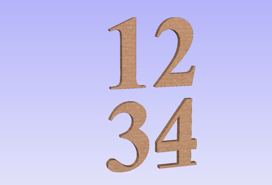 Freestanding Time New Roman Numbers
