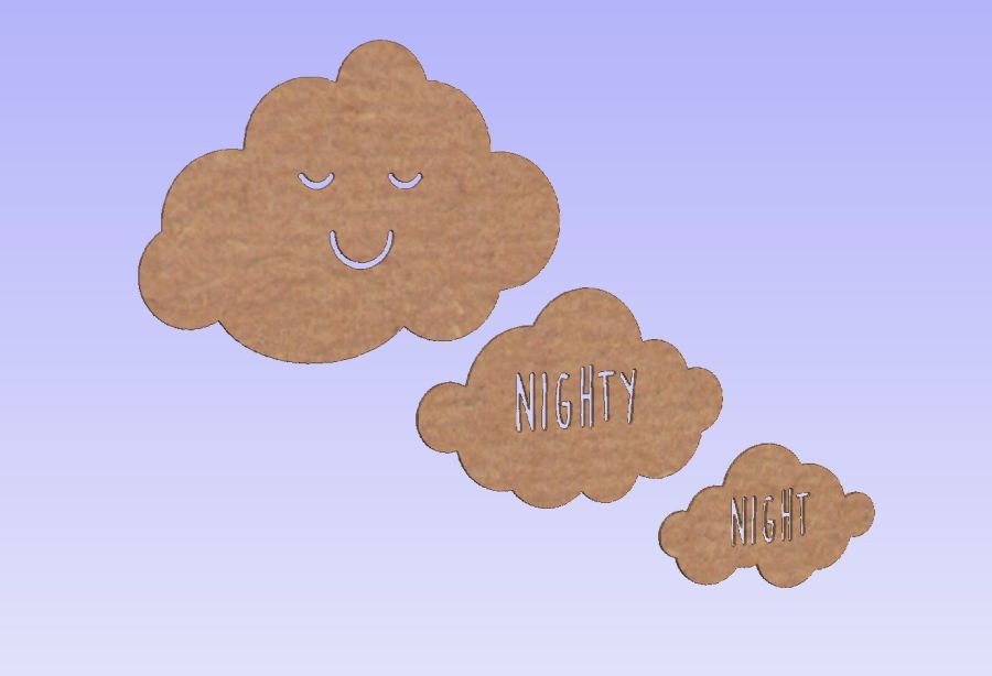 Set of 3 Clouds - Nighty Night