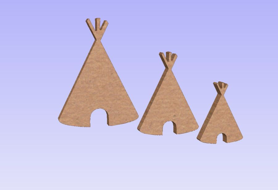 Freestanding Tepee - Set of 3