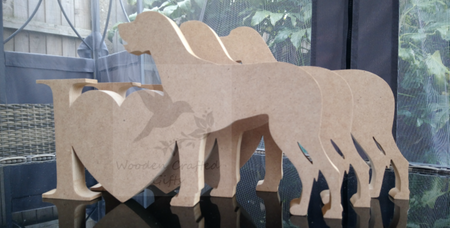 Freestanding - I heart Dog -