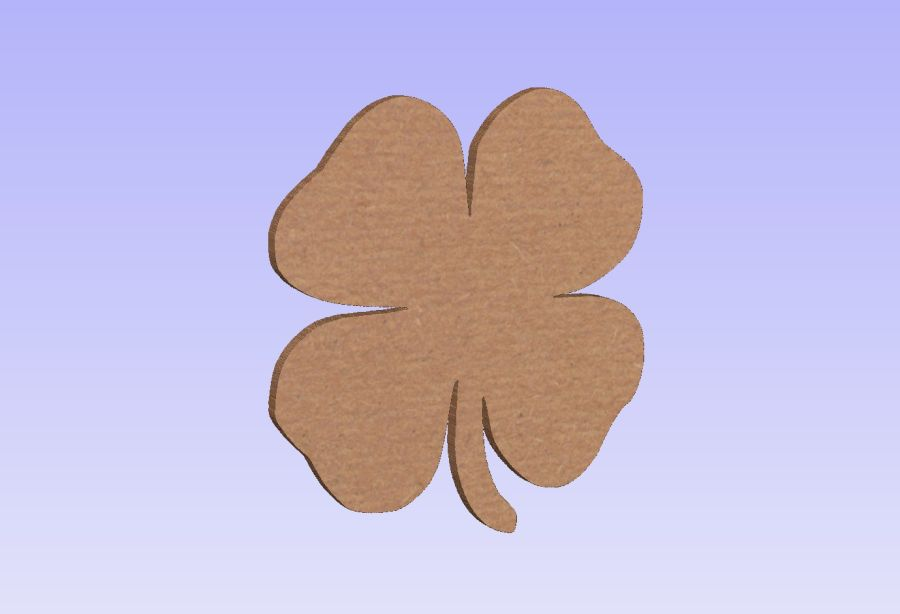 Freestanding Shamrock Set of 3