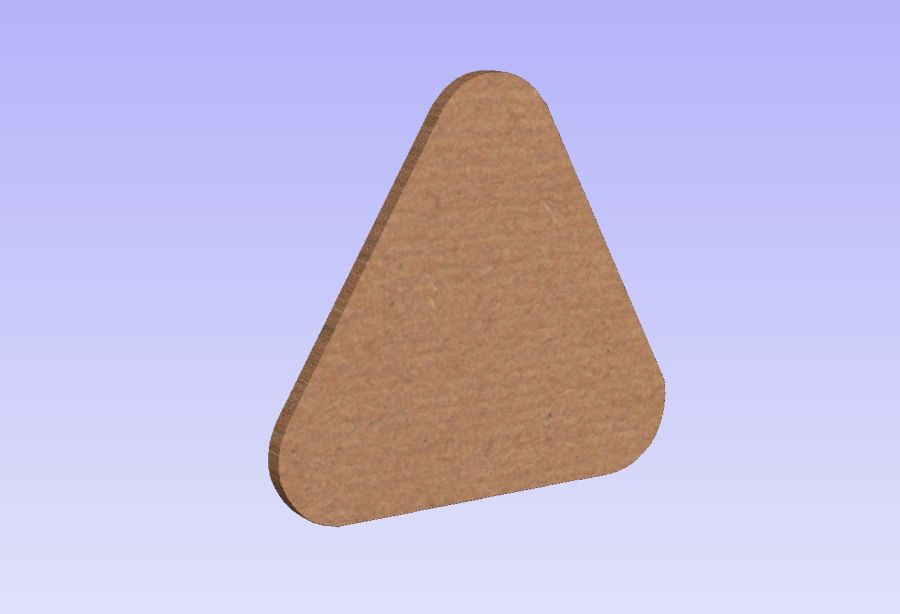 Freestanding Rounded Triangles Set of 3