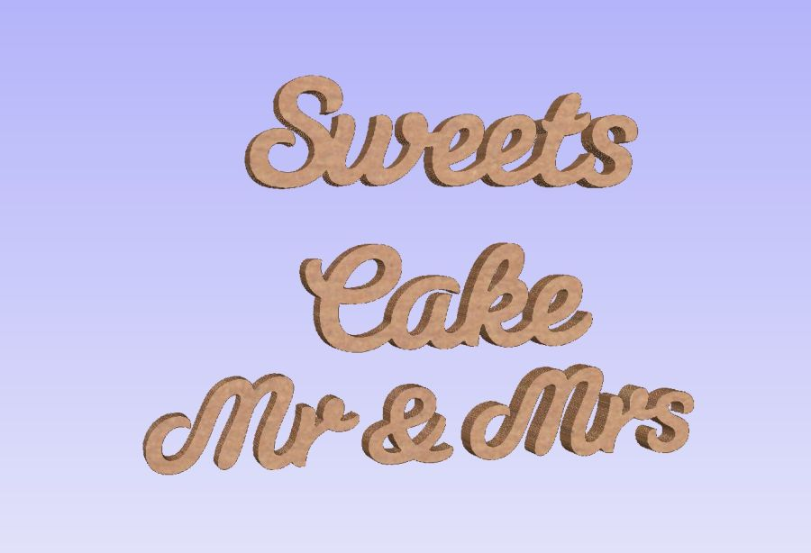 Freestanding Table Sign Bundle - Sweets -  Cakes - Mr & Mrs
