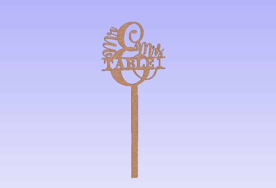 Mr & Mrs Table Numbers On Sticks