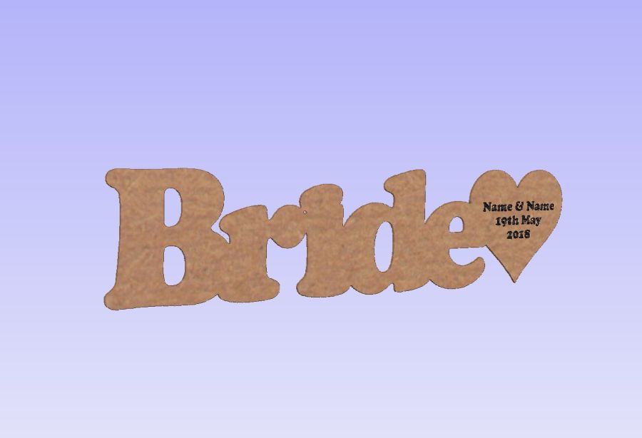 Wedding Place Names + Engraved Heart